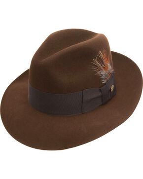 Stetson Men's Pinnacle Beaver Fur Felt Fedora, Brown, hi-res
