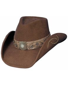 Bullhide Sheila Wool Cowgirl Hat, Chocolate, hi-res