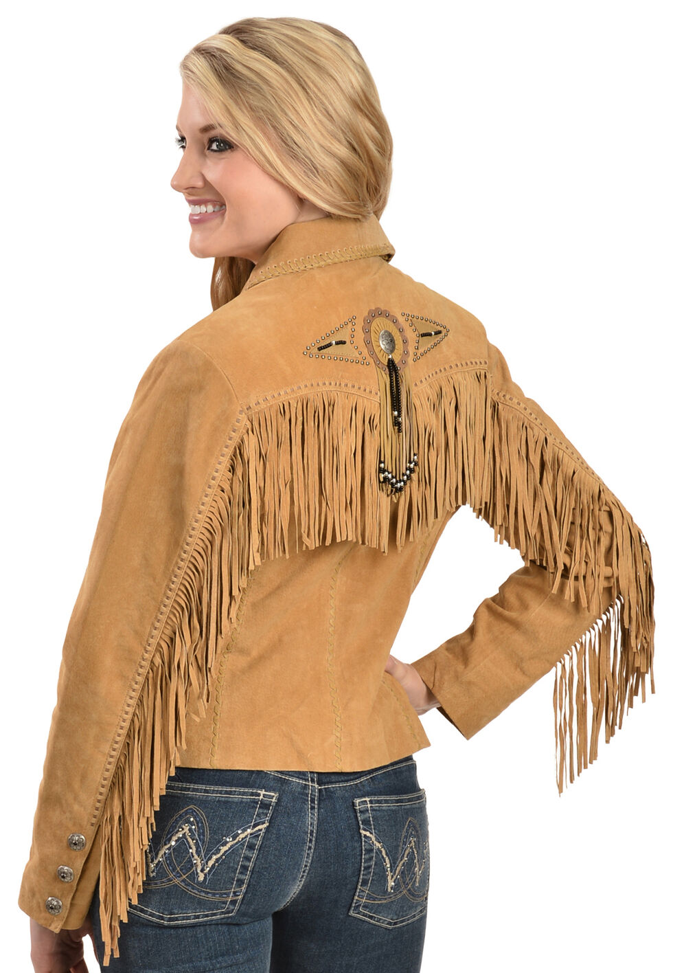 Scully Suede Fringe and Beaded Jacket, Rust, hi-res