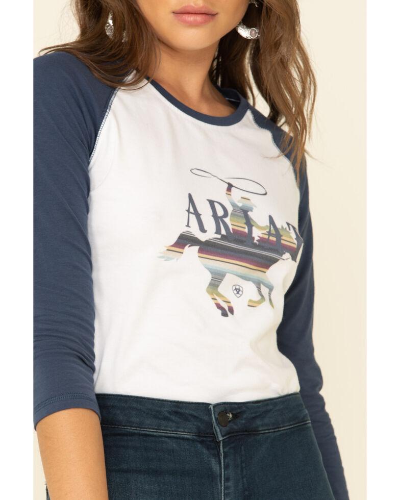 Ariat Women's Marine Blue REAL Serape Rider Tee , Blue, hi-res
