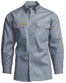 Lapco Men's Khaki FR Uniform Shirt , Grey, hi-res
