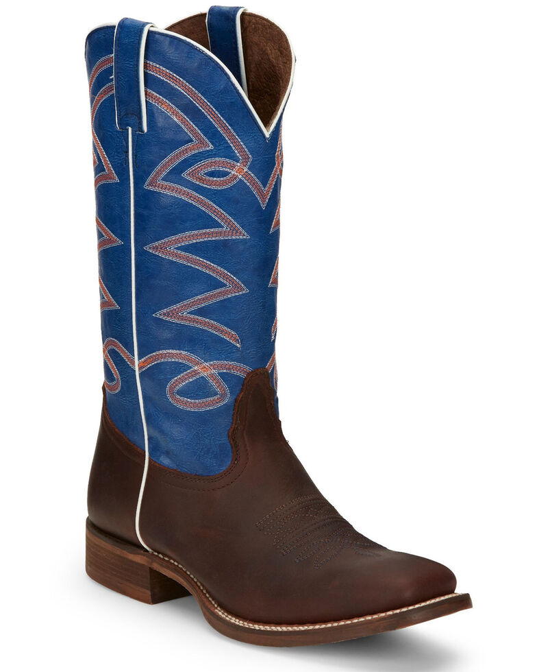 Nocona Men's Brantley Brown Western Boots - Wide Square Toe, Brown, hi-res