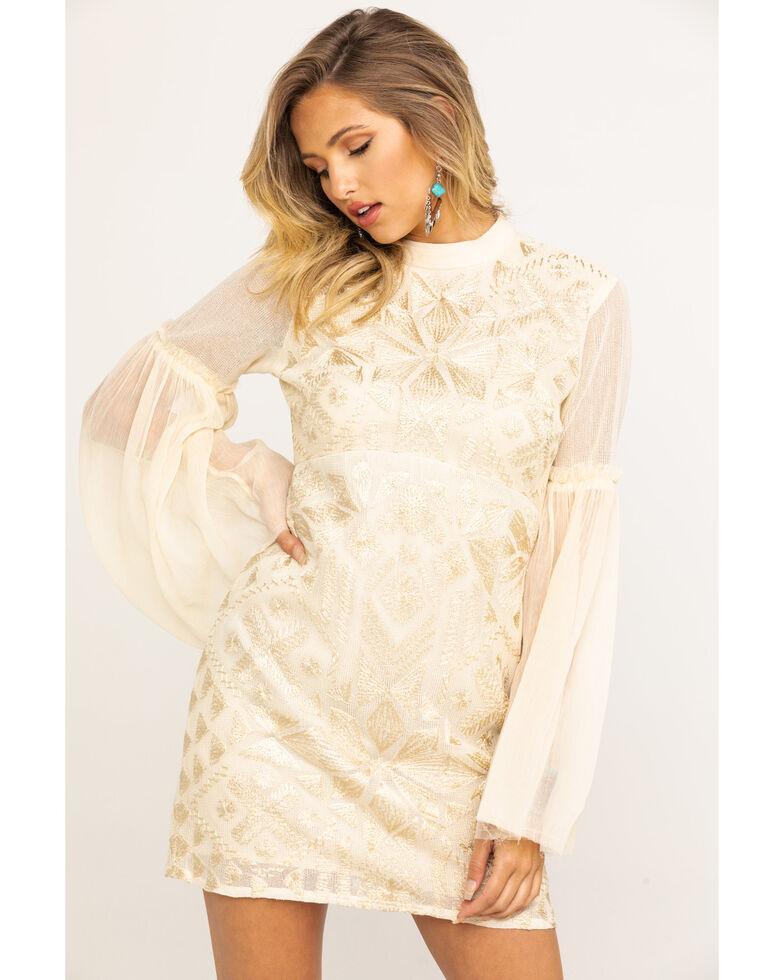 Free People Women's Cleo Mini Dress, Natural, hi-res