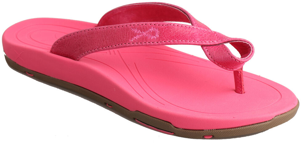 """Twisted X Women's """"Tough Enough to Wear Pink"""" Sandals , Pink, hi-res"""
