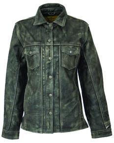 STS Ranchwear Women's Steele Grey Ranch Hand Leather Jacket , Dark Grey, hi-res