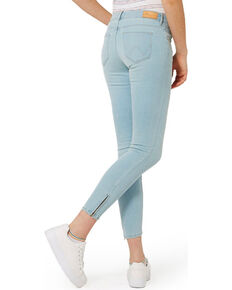 Wrangler Women's 70th Anniversary Zip-Crop Skinny Jeans, Blue, hi-res