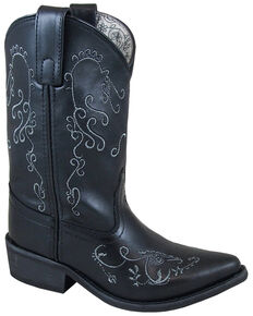 Smoky Mountain Girls' Florence Western Boots - Snip Toe, Black, hi-res