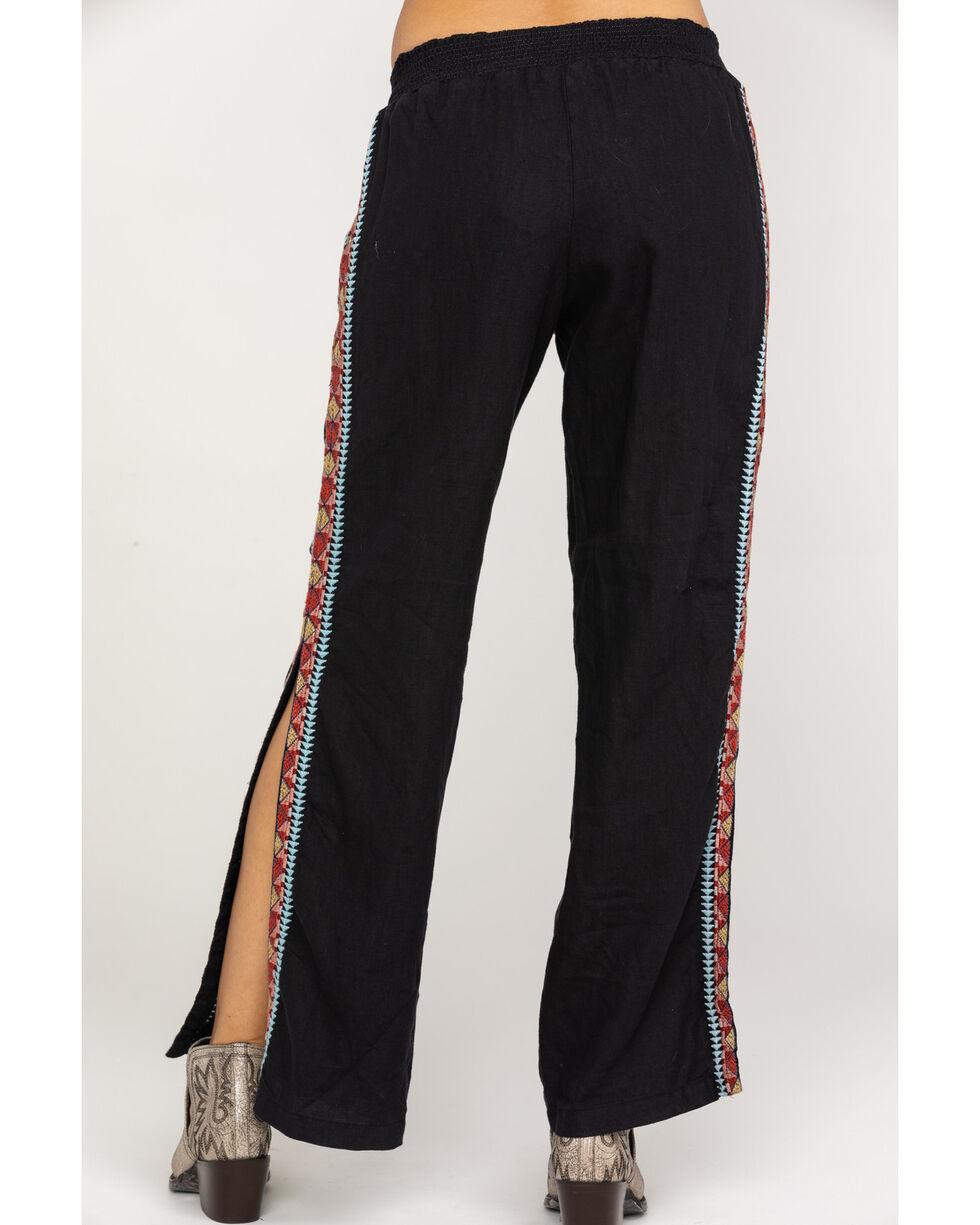 Johnny Was Women's Ezra Side Slit Plazzo Pants, Black, hi-res