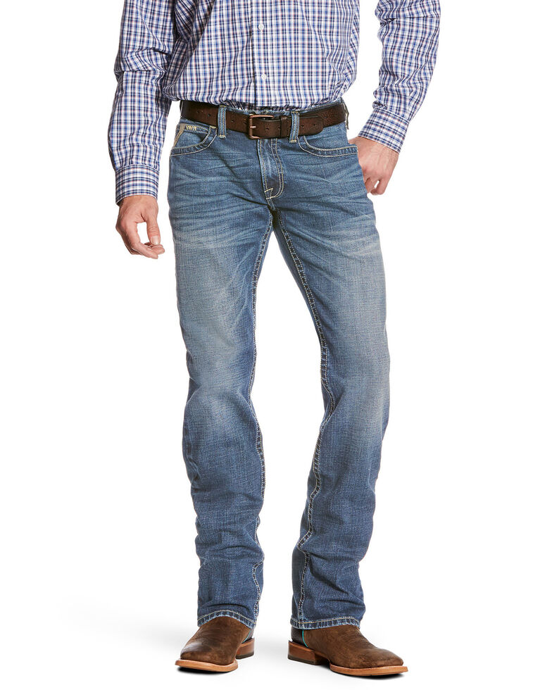 Ariat Men's M5 Nolan Slim Stackable Stretch Straight Leg Jeans , Blue, hi-res