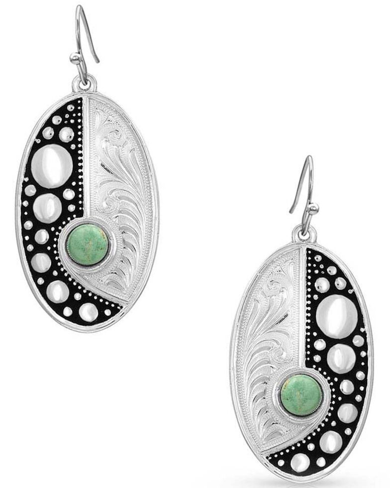 Montana Silversmiths Women's Make Some Waves Turquoise Earrings, Silver, hi-res