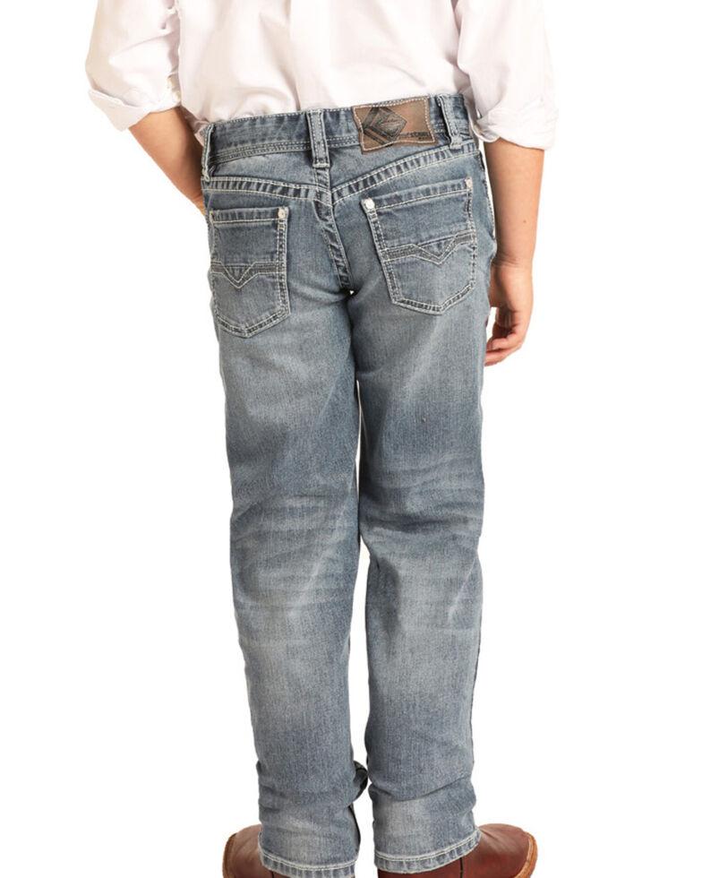 Rock & Roll Denim Boys' Reflex Medium Vintage Stretch Slim Jeans , Blue, hi-res