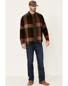 North River Men's Ganache Multi Large Plaid Corduroy Long Sleeve Western Shirt , Multi, hi-res