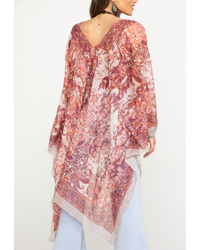 Origami Women's Boho Sheer Kimono, , hi-res