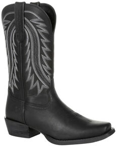 Durango Men's Rebel Frontier Western Boots - Narrow Square Toe, Black, hi-res