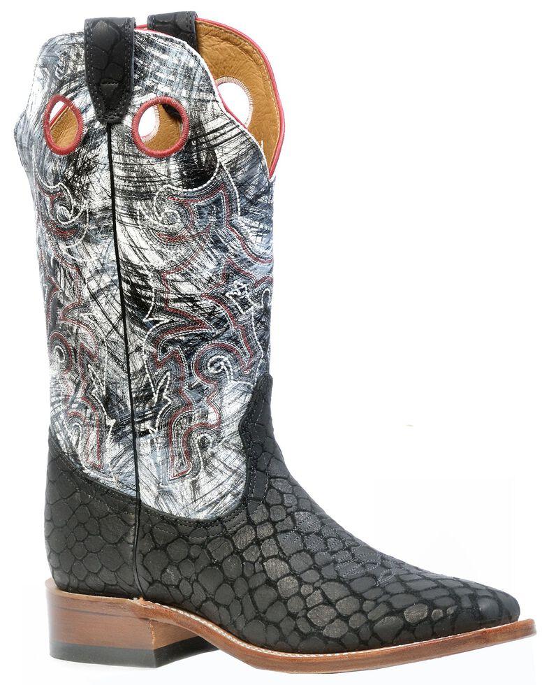 Boulet Puzzle Cowboy Boots - Square Toe, Black, hi-res