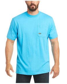 Ariat Men's  Turquoise Rebar American Raptor Back Graphic Work T-Shirt - Big , Turquoise, hi-res