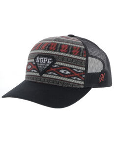 Hooey Girls' Multi Aztec Rope Like A Girl Diamond Patch Mesh Ball Cap , Multi, hi-res