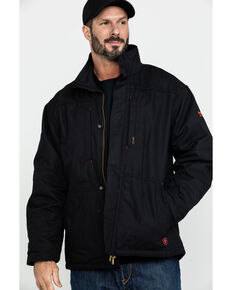 Ariat Men's Black FR Workhorse Work Jacket - Tall , Black, hi-res
