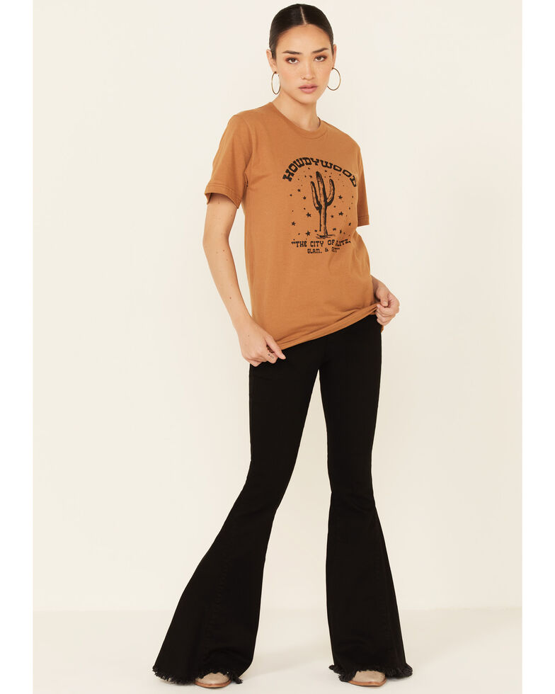 Ali Dee Women's Camel Howdywood Graphic Short Sleeve Tee , Camel, hi-res