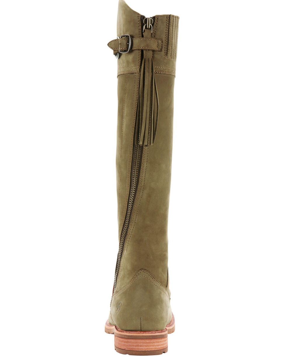 Ariat Women's Olive Alora Riding Boots - Round Toe , Olive, hi-res