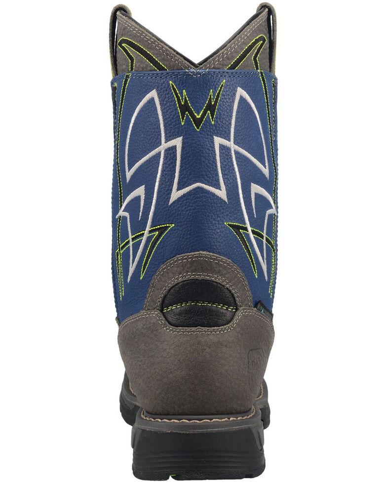 Dan Post Men's Storm Surge Waterproof Western Work Boots - Broad Square Toe, Blue, hi-res