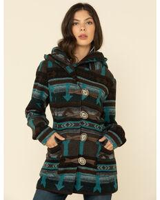 Cruel Girl Women's Brown Aztec Concho Jacket, Brown, hi-res