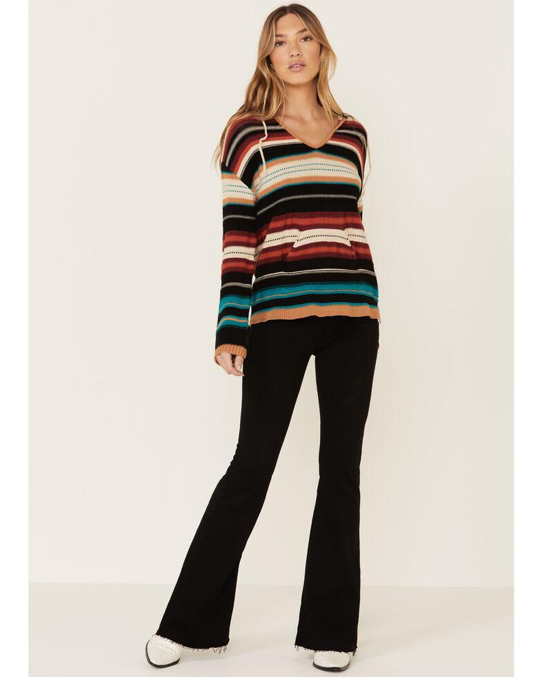 Joesph Studio Women's Multi Serape Print Hooded Sweater, Multi, hi-res