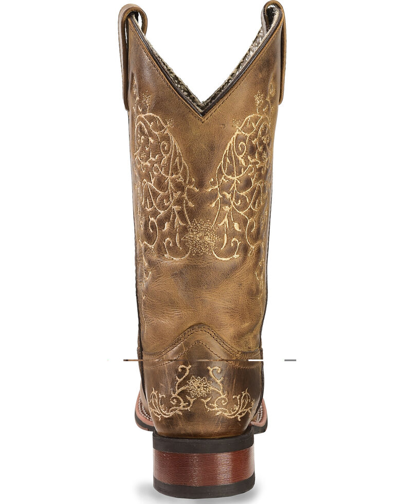 Laredo Ivy Cowgirl Boots - Square Toe, Taupe, hi-res