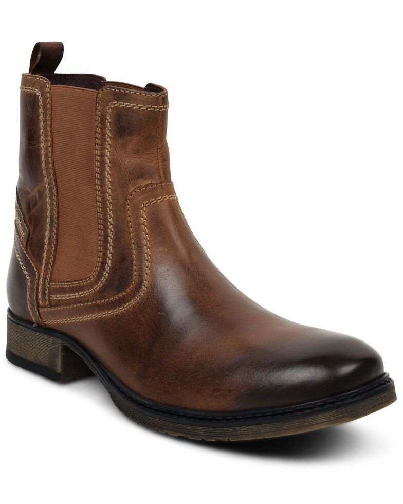 Evolutions Men's Torrey Chelsea Boots - Round Toe, Tan, hi-res