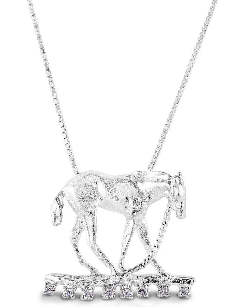 Kelly Herd Women's Foal & Halter Pendant Necklace , Silver, hi-res