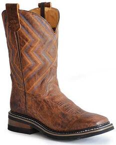 Roper Men's Ranch Western Boots - Square Toe, Brown, hi-res