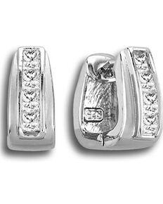 Kelly Herd Women's Silver Contemporary Stirrup Hoop Earrings , Silver, hi-res