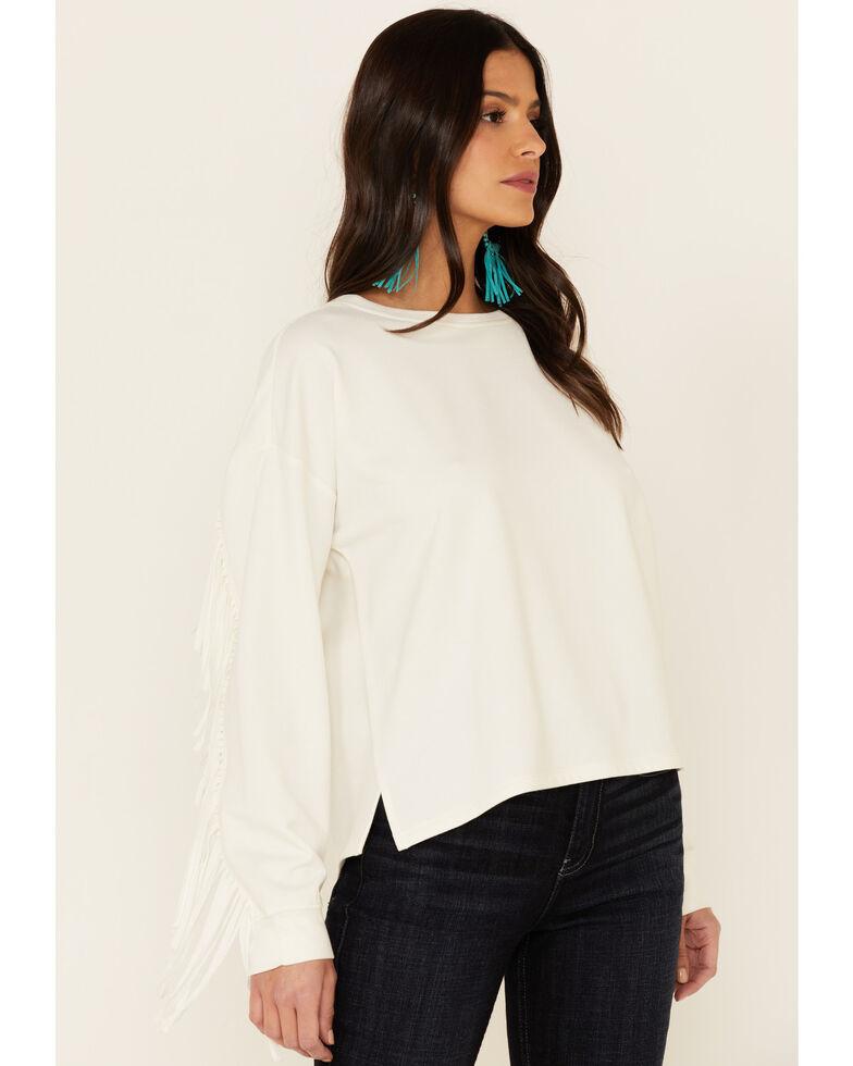 Idyllwind Women's Fringe Sweatshirt, Ivory, hi-res