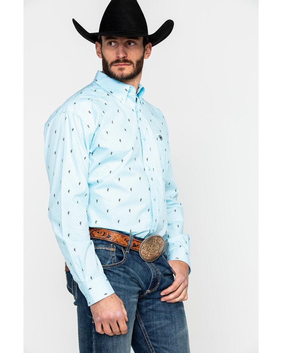 Ariat Men's Edholm Geo Print Long Sleeve Western Shirt , Blue, hi-res