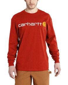Carhartt Signature Logo Sleeve Knit T-Shirt, Orange, hi-res