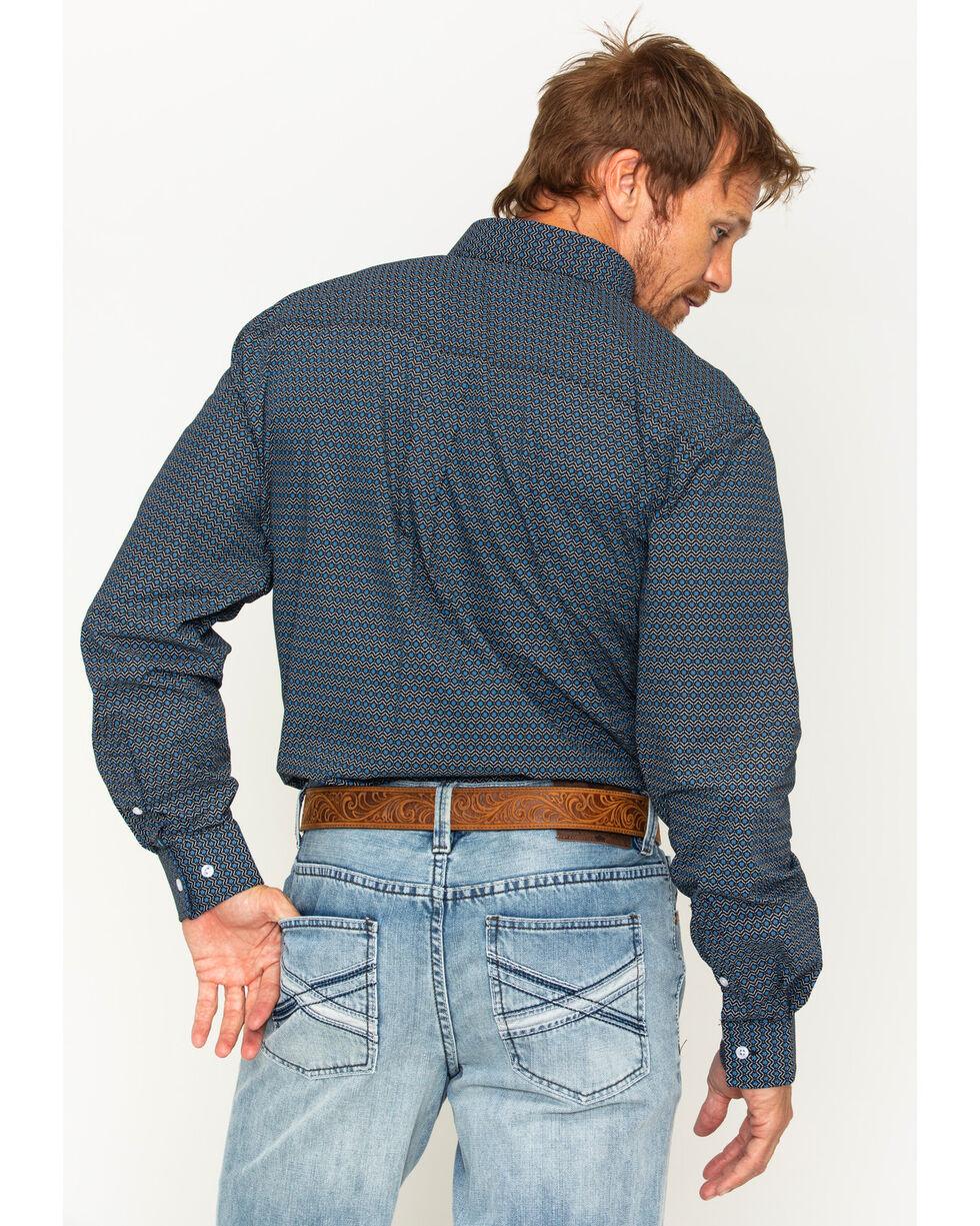 Cody James Men's Mountain Sky Long Sleeve Button Down Shirt, Black, hi-res