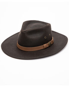 Outback Trading Co. Kodiak Oilskin Hat, Brown, hi-res