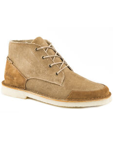 Roper Men's Tan Everett Chukka Shoes - Round Toe , Tan, hi-res