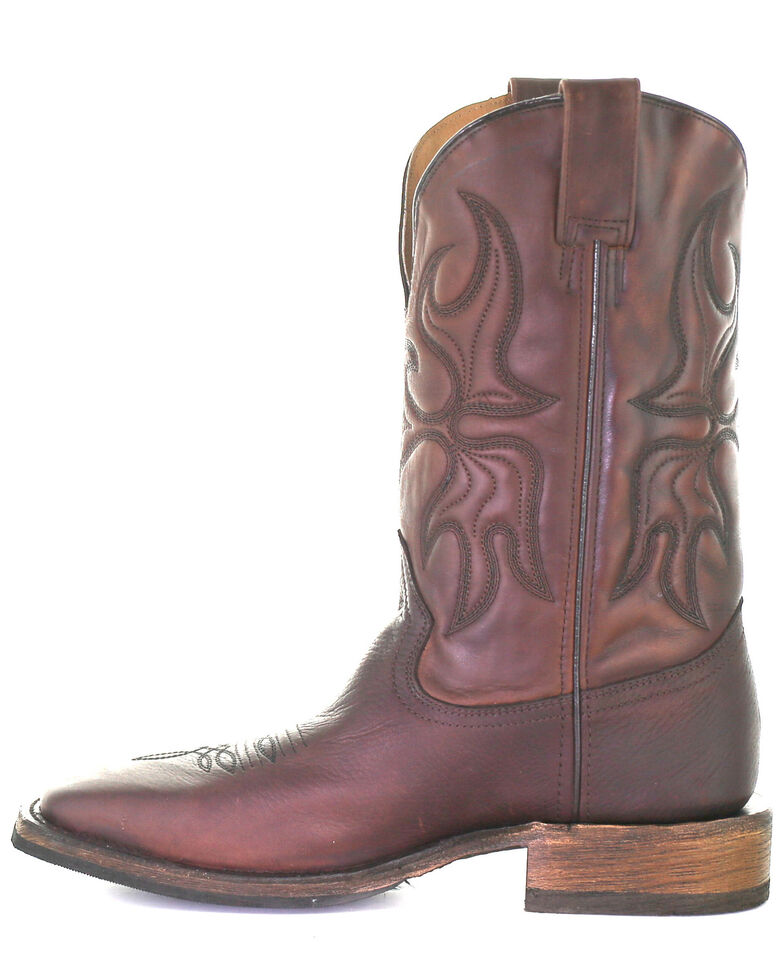 Corral Men's Chocolate Embroidery Western Boots - Square Toe, Chocolate, hi-res