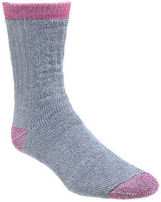 Wolverine Women's Pink Wool Socks - 2 Pack, Grey, hi-res