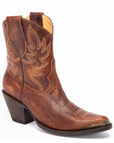 Idyllwind Women's Wheels Western Booties - Pointed Toe, Brown, hi-res
