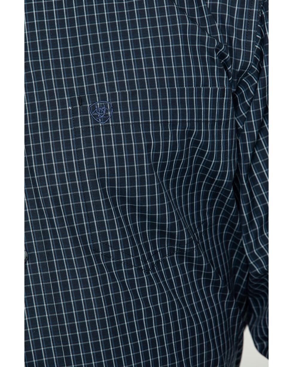 Ariat Men's Curtis Small Plaid Long Sleeve Western Shirt , Black, hi-res