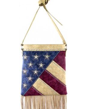 Montana West America Pride Fringe Crossbody Handbag, Beige, hi-res