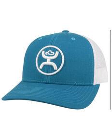HOOey Men's Teal & White O Classic Circle Logo Mesh-Back Trucker Cap , Teal, hi-res