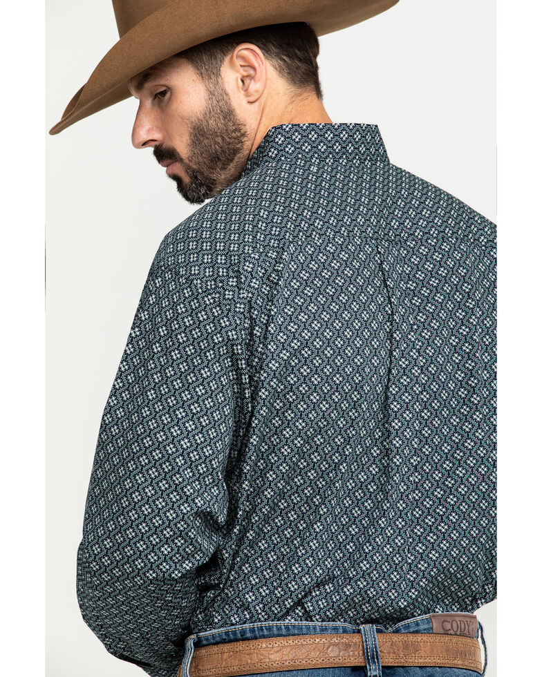 Cinch Men's Multi Small Geo Print Button Long Sleeve Western Shirt , Multi, hi-res