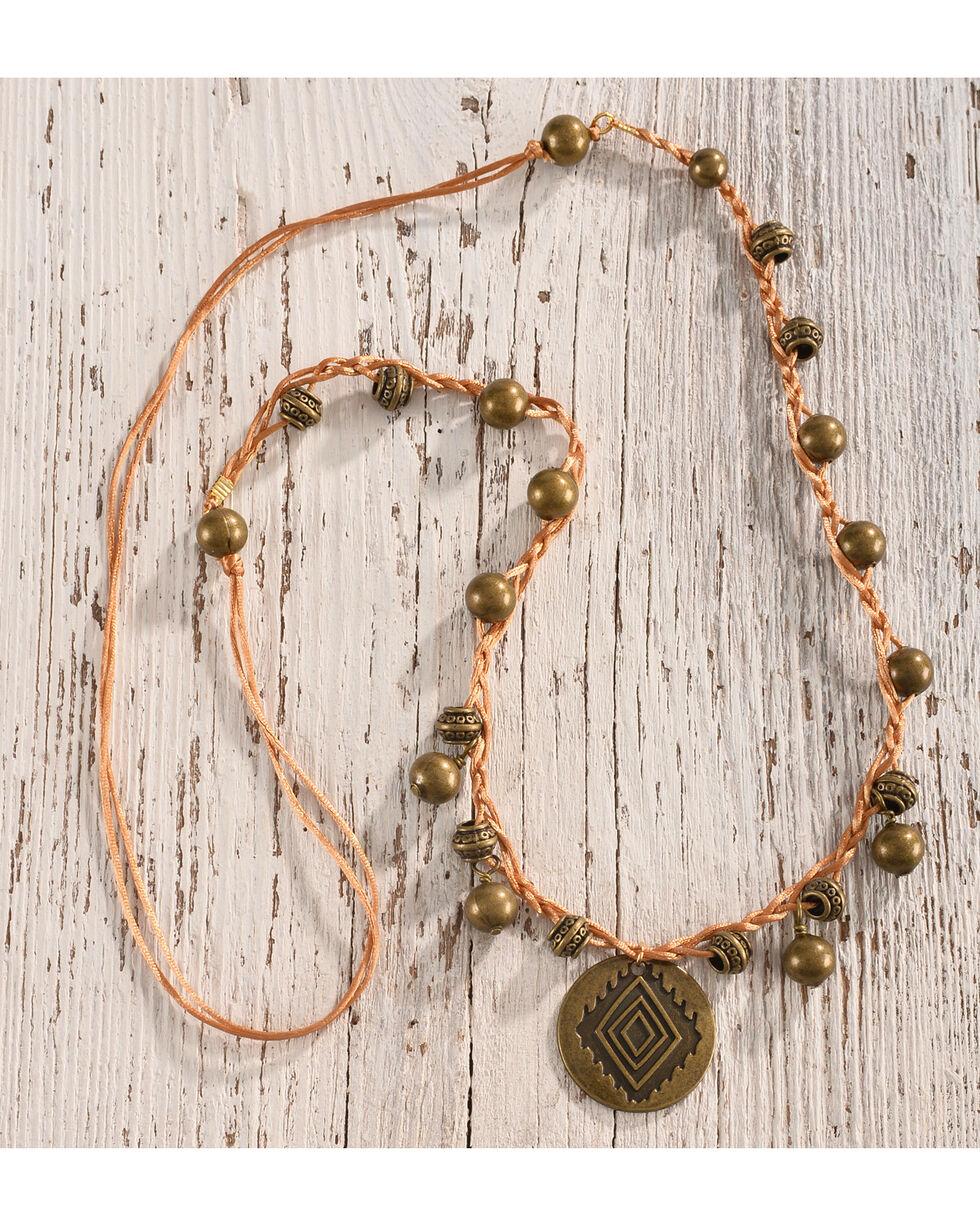 Gemelli Women's Bronze Coin Cami Necklace, Bronze, hi-res