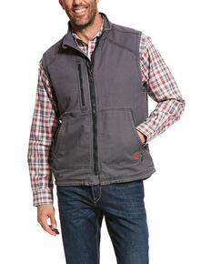 Ariat Men's FR Duralight Stretch Canvas Work Vest - Big , Grey, hi-res