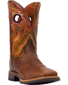 Dan Post Men's Honcho Cowboy Certified Western Boots - Square Toe, Brown, hi-res