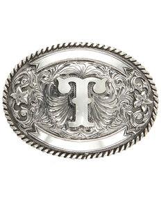 Cody James Men's Initial T Belt Buckle, Silver, hi-res