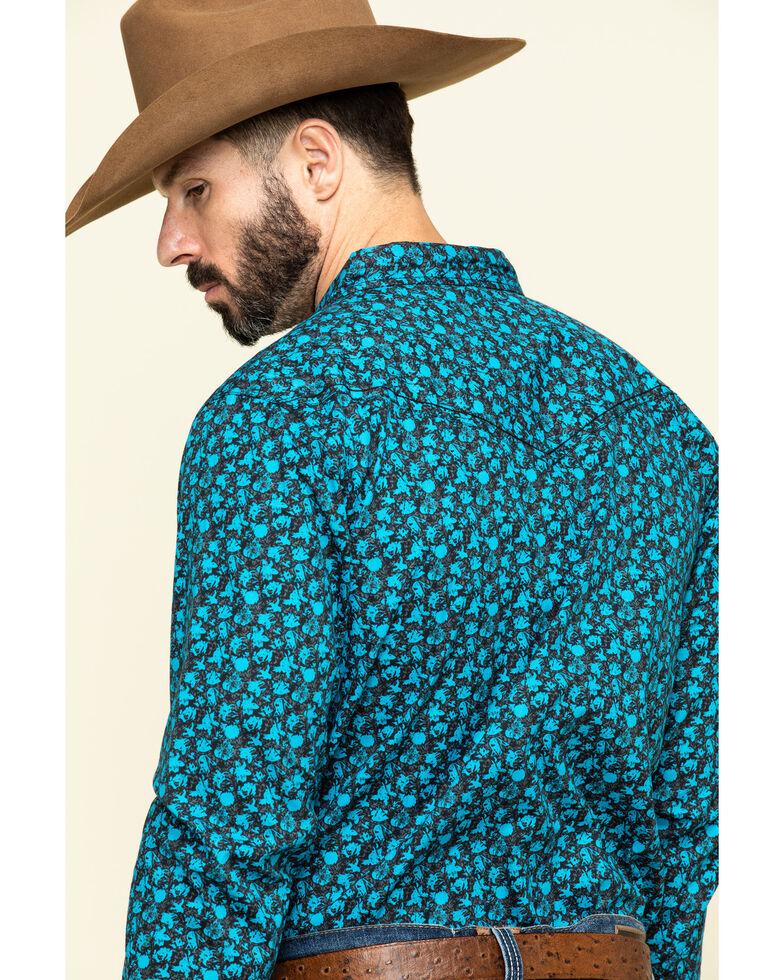 Cody James Men's High Sierra Floral Print Long Sleeve Western Shirt , Blue, hi-res